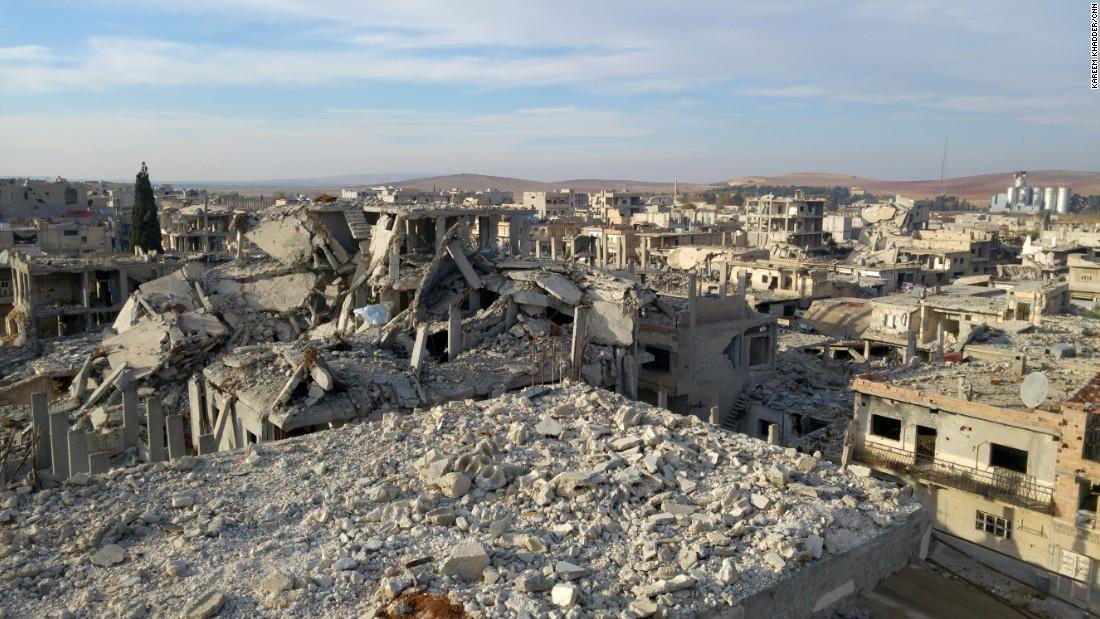 Destruction in Kobani, Syria